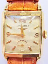 1950s Longines Curvex 10k GF Gents 23Z Movt Mech Watch serviced Warranty