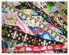 OMG OH MY RIBBON SCRAPS GOODIES GROSGRAIN REMNANTS LOT MIX  4 OOAK HAIRBOWS BOW