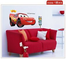 Large Disney Cartoon Lightning McQueen Cars Art Wall Stickers Boy Bedroom Room
