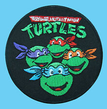 GREEN NINJA TURTLES Cartoon Teenage Embroidered Iron / Sew On Jacket Vest Patch
