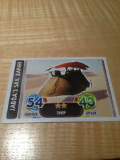 STAR WARS Force Awakens - Force Attax Trading Card #100 Jabba's Sail Barge