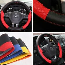 Circle Cool 47019 Steering Wheel Cover Stitch Wrap Black+Red Pvc Leather 14.5""