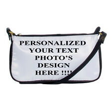 NEW PERSONALIZED Custom Logo DESIGN PHOTO Text Shoulder Clutch BAG FREE shipping