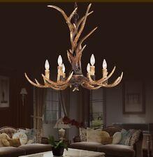 Deer Antler Ceiling Light Chandelier Den Hunting Lodge Den  Bar Country Rustic