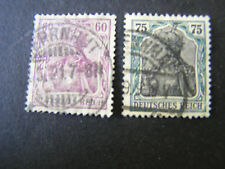 *GERMANY, SCOTT # 89/90(2), 60pf+75pf. VALUES 1905 HISTORIC EVENTS ISSUE USED.