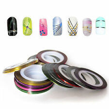 32 Color Rolls Striping Tape Line Nail Sticker Nail DIY Kit Nail Art UV Gel Tips