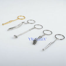 5pcs Dental Molar Shaped Tooth Key Chain Dental Clinic Gift Five Pieces