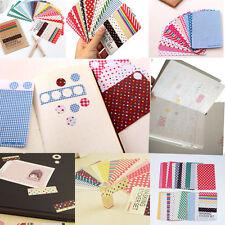 27X Washi Adhesives Masking Tape Scrapbooking Craft Sticker Decorative Labelling