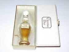 Vintage Christian Dior Miss Dior Crystal Class Perfume Bottle/Box 1/4 OZ Trrace