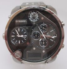 Diesel DZ7221 Mr Daddy Chrono Black Dial Steel Bracelet Men Watch stem broken