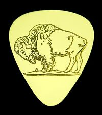 BUFFALO - BISON - Solid Brass Guitar Pick, Acoustic, Electric, Bass