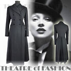 VINTAGE LAURA ASHLEY RIDING COAT JACKET BLACK VICTORIAN EDWARDIAN 40s WAR BRIDE