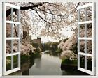 Cherry Tree 3D Window View Removable Wall Art Stickers Vinyl Decal Home Decor
