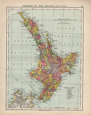 1924 PRINT ~ DOMINION OF NEW ZEALAND NORTH ISLAND ~ KIWITEA HAWERA MAKARA ETC