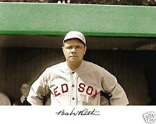 Babe Ruth pre New York Yankees Red Sox Autograph 8 x 10 Photo Picture