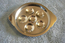Set of 6 Escargot Plates Snail Dish Six Wells 18-8 Stainless Steel Japan