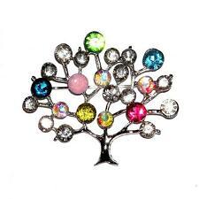 BROOCH/PIN Absolutely Stunning ST Colorful Rhinestones TREE OF LIFE