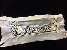 Antique Irish Lace Fragment Salvage Dolls Doll Crafters Altered Art Primitive
