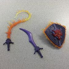 DRAEGO MAN MASTERS UNIVERSE GREAT UNREST WEAPONS PAK SWORD SHIELD FLAME WHIP