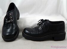 "Harley Davidson womens ""Freeway"" oxfords shoes 7.5 M black leather"