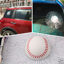 Simulation 3D Baseball Ball Hit Car Stickers Broken Window Baseball Decal Crack