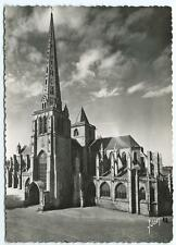 Black & White Postcard of The Cathedral at Treguier