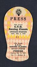 RARE 1954 Chicago 24th CYO Golden Gloves Boxing Classic ticket pass PRESS
