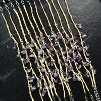 New 12pcs Natural Amethyst Stones Lucky Grass Bracelets Wholesale Jewelry Lots