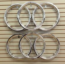 "Ford Model A Shay Super Deluxe Replica 18"" Wheel Beauty Rings TRIM RING SET of 6"