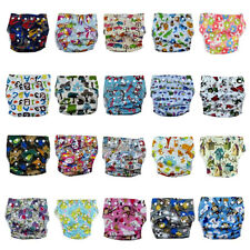 1Pc Happy Flute Bamboo Cloth Diaper All-In-One Reusable Washable Breathable