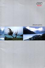 Audi A6 Allroad 2000-01 UK Market Sales Brochure 2.7T 2.5 TDi