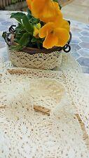 3m Stile Vintage Cotone crochet pizzo bordo Nastro CREMA Cucito Mestieri nuovo