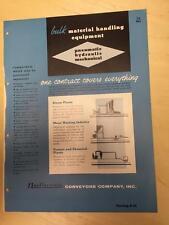 Vtg National Conveyors Co Brochure ~ Bulk Material Handling Equipment