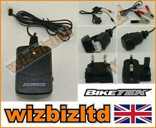 BIKETEK 6V 12V Moped Scooter Battery Charger Peugeot Piaggio Vespa SYM BCH012