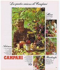 PUBLICITE ADVERTISING 104 1978 les quatres saisons de CAMPARI