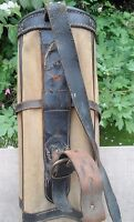 True Vintage Ladies Stove Pipe Canvas Leather  Golf Bag w/ Wood Golf Clubs