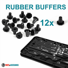 12x ​RUBBER BUFFER for Number plate Holder Surround Bumper Protector Gummipuffer