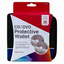 48 CD/DVD Car Disc Storage Wallet Holder Carry Case Pocket Sleeves Blue UK