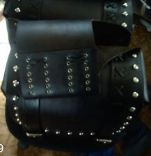 Leather Motorcycle Throwover Saddlebags - Harley or Metric - Custom Built
