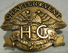 1989 H.O.G. Chapter Event Harley Pin NOS