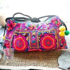 Handmade Ladies Ethnic Embroidered Hippie Boho Crossbody Hmong Canvas Purse Bag