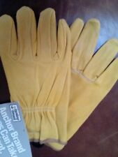 Men's Premium Cowhide Leather Driving Gloves by Anchor Brand,Yellow ,Medium,NWT
