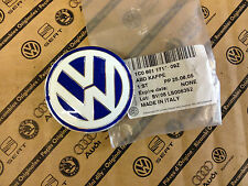 Genuine VW Beetle Golf Mk4 Alloy Wheel 56mm Centre Cap Blue/White NEW