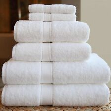 7 Pieces Egyptian Cotton Bath Towel Set 600GSM White