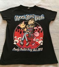 REEL BIG FISH CONCERT TOUR T SHIRT CANDY COATED FURY 2013 JUNIOR MEDIUM