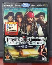 Pirates of the Caribbean: On Stranger Tides - NEW 3D Blu-ray DVD Digital + Bonus