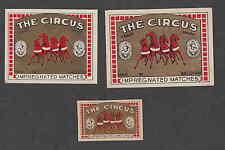 Ancienne   étiquette   allumette Belgique  CC30 The Circus 4  Cheval
