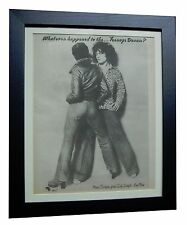 MARC BOLAN+T.REX+Teenage Dream+ORIGINAL 1974 POSTER AD+FRAMED+FAST GLOBAL SHIP