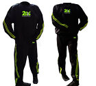2Fit Sweat Sauna Suit Green Gym Training Track Suit Unisex Slimming Weight Loss