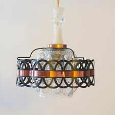 Hängeleuchte Pendel 70er Deckenleuchte Glas Bubble DDR Vintage Lampe